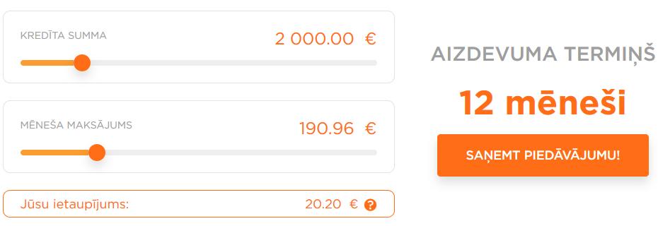Patēriņa kredīta kalkulators