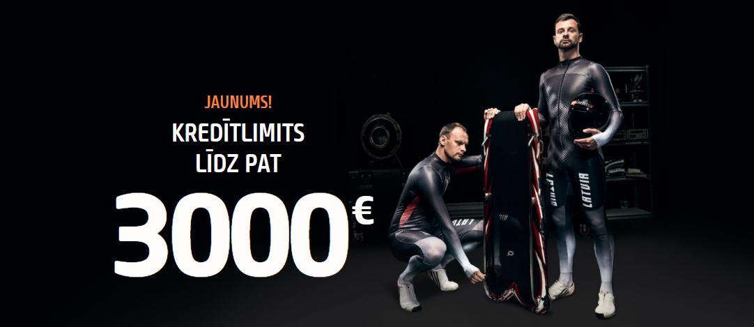 Kredītlimits līdz 3000 €